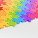 Surface half-covered with the puzzles Royalty Free Stock Photography