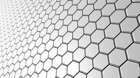 Surface of hexagonal tiles Royalty Free Stock Photography