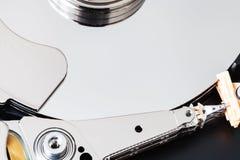 Surface of internal 3.5-inch sata hard disk drive. Close up Stock Images