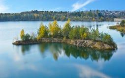 The mirror of autumn nature Stock Image