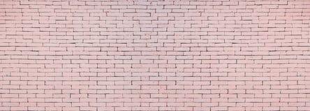 Surface large de mur de briques de fond rose mou de texture images stock