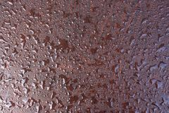 Surface of leatherette with drops of dew Royalty Free Stock Photos