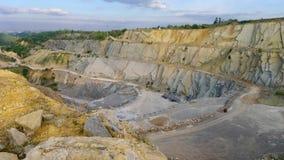 Surface limestone mine Stock Image