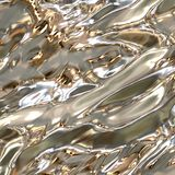 Surface métallique argentée Photos libres de droits