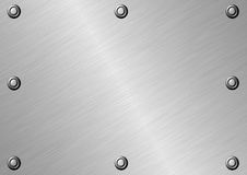 Surface métallique balayée Photographie stock libre de droits