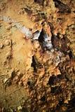 Surface métallique peinte avec beaucoup de rouille image stock