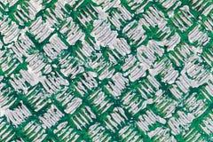 Surface métallique sale avec le modèle de plat de diamant Photos libres de droits