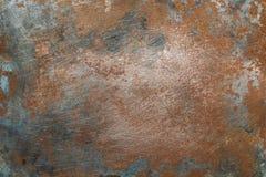 Surface métallique texturisée avec des traces de la corrosion photographie stock libre de droits