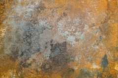 Surface métallique texturisée avec des traces de la corrosion photos stock