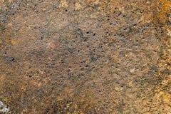 Surface métallique texturisée avec des traces de la corrosion image stock