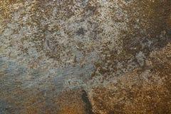 Surface métallique texturisée avec des traces de la corrosion images stock