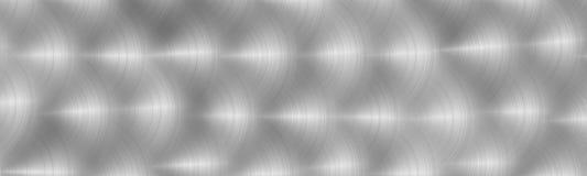 Surface m?tallique grise balay?e Texture de m?tal Fond en acier abstrait Image panoramique illustration stock