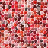 Surface marble mosaic pattern seamless background with white grout - mohogany, maroon, peach, brown, orange and red color. Surface floor marble mosaic pattern royalty free illustration