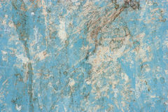 Surface of the metallic blue with dirt. Royalty Free Stock Photo