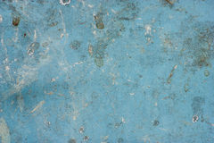 Surface of the metallic blue with dirt. Royalty Free Stock Images