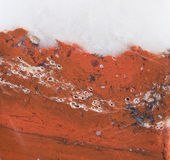 Surface of the mineral sealing-wax jasper. Royalty Free Stock Photo