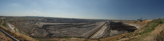 Surface mining panorama Royalty Free Stock Image