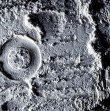 The surface of the moon. Space. The texture of the sand on the moon Royalty Free Stock Images