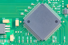 Surface mount technology (SMT) microchip royalty free stock photos