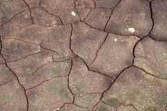 Surface of mud with cracks Royalty Free Stock Photos