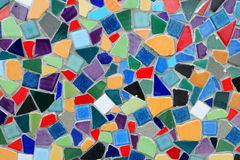 Surface multi colored tiles Royalty Free Stock Photo