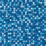 Surface from multitude blue squares. Two-dimensional surface from multitude blue squares in vector Royalty Free Stock Images