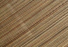 Surface naturelle de tapis de paille de couleur Image libre de droits