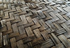 Surface old  basketry made from bamboo Royalty Free Stock Images
