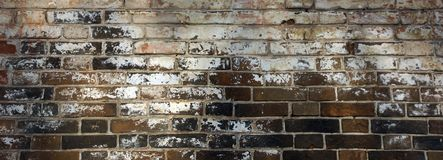 Surface of an old brick wall grunge background texture
