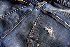 Surface of old jeans. Royalty Free Stock Photo