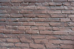 Surface of old painted brick wall Stock Images