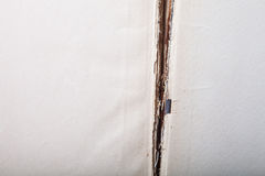 Surface of old paper for textured background. Focus on the centr Royalty Free Stock Photo