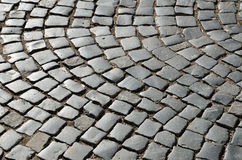 Surface of the old paving road Royalty Free Stock Image