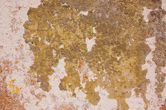 Surface of old peeling off wall Stock Image