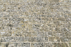 Surface of the old stone  bricks Stock Photography
