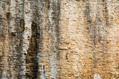Surface of old stone wall. Ancient castle. Stock Image