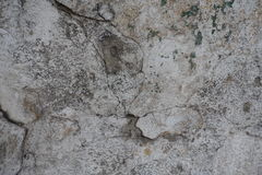 Surface of old cracked plastered wall Stock Photography