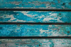Surface of old wood Paint over with white and blue