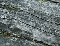 The surface of the old wooden table. View from above. Close-up royalty free stock photos