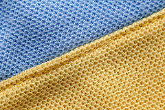 Surface of orange and blue of fabric. Stock Images