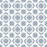 Surface pattern design in blue and white with decorative ornament. Vector Stock Images