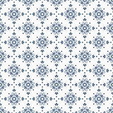 Surface pattern design in blue and white with decorative ornament.Vector. Stock Photo