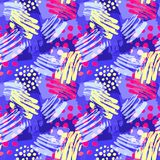 Surface pattern design, graffiti seamless hand craft expressive. Ink hipster pattern.Grunge urban dynamic expressive bright painting.Print for textile,apparel Stock Photo