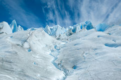 Surface of Perito Moreno glacier. Stock Images