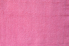 Surface of pink towel Stock Photo