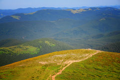 Surface plane de la montagne photographie stock