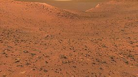 The Surface of Planet Mars Through a Rover Camera stock footage