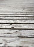Surface of plank pier Royalty Free Stock Photography