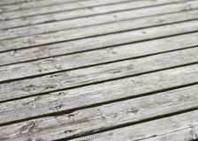 Surface of plank pier Royalty Free Stock Photos