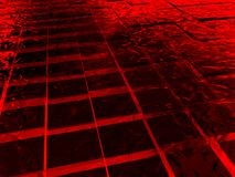 Surface with red cubes made of ice Royalty Free Stock Photography